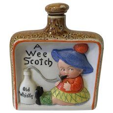 "German Schafer and Vater ""A Wee Scotch"" Liquor Flask"