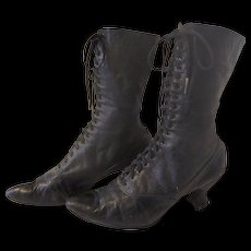 Antique Victorian High Top Lace Up Shoes Boots