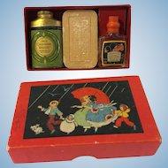Vintage Colgate Petite Package Sample Powder Tin Perfume Soap