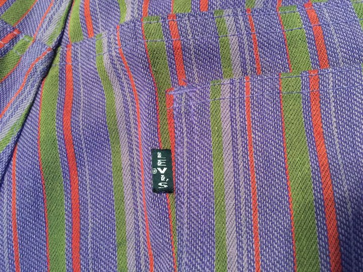 29be9702 Vintage 1960's 70's Big E Levi's Sta-Prest Purple Stripe Jeans ...