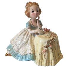 Vintage Josef Originals Figurine Girl Writing Letter