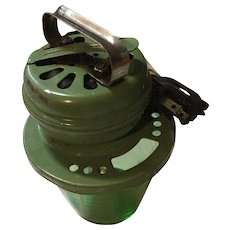 Vintage green Depression electric mixer