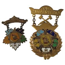 Vintage 10K Gold and Enamel Masonic  Past Oracle Pin