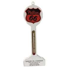 Vintage Phillips 66 Gas Station Advertising Thermometer Kansas Oil Co.