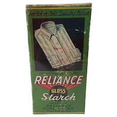 Vintage unopened 1 pound box of Reliance Gloss Starch