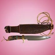 WaiteWild Boar hunting fighting knife  in sheath Better look