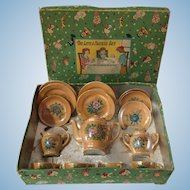Vintage 15 piece Childs Tea Set Occupied Japan Luster Ware with Box