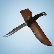 Vintage Cuto Hunting knife in leather sheath 1700 KK