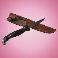 Cutco fishing knife and orig leather sheath
