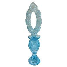 Vintage Blue Fenton Perfume Bottle
