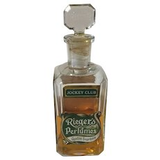 Antique Rieger's Jockey Club Perfume Bottle