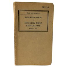 Vintage WWII 1941 Infantry Field Manual War Department