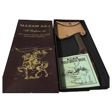 Vintage Maxam AX-1 ax in orig box