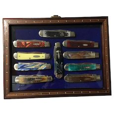 10 Neat Case pocket knives in neat case
