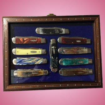 10 Neat Case pocket knives in neat case