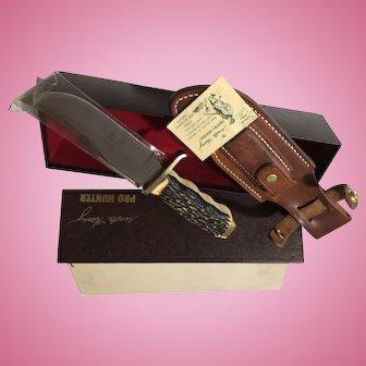Vintage Schrade Model USA 170-U hunting knife in box Pro-Hunter