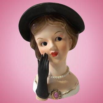 Vintage Rubens Lady Headvase Head Vase