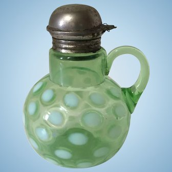 Antique Victorian Coin Spot Coin Dot Syrup Pitcher