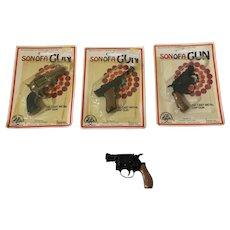 4 Vintage Die Cast Metal Cap Guns Zee Toys