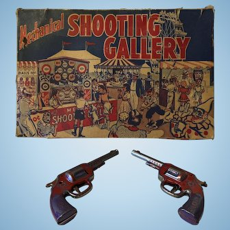 Vintage Wyandotte Tin Mechanical Toy Shooting Gallery