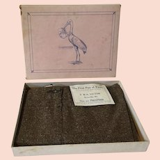1920's Complimentary Gift Marx & Haas Child's First Pair of Pants in Box