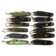 12 Vintage Boy-Scout- Cub Scout and Girl Scout pocket knives