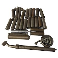 26 antique air pressure gauges Schrader