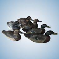 6 Antique wood duck decoys