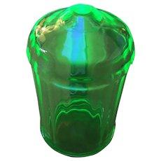 Rare green depression glass Sugar shaker