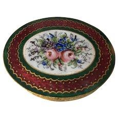 Vintage French Souvenir Enamel Compact