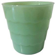 Vintage Fire-King Jadeite Jadite Flower Pot Planter