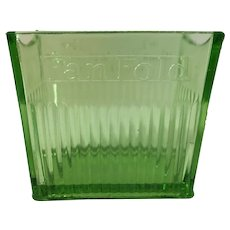 Vintage Green Depression Glass Fan Fold Napkin Holder