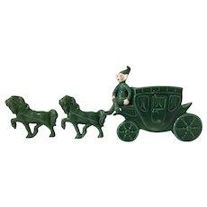 Treasure Craft Pixie Elf Wall Pocket Coach and Horses