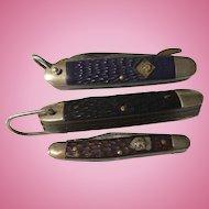 3 old vintage Boy Scout knives