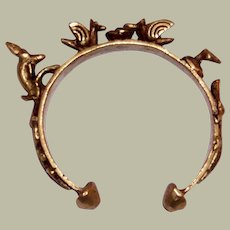 African Bronze/Brass Alloy Bracelet with Indigenous Animals