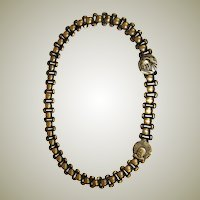 Chinese Belt/Necklace on Silver-Tone Metal with Medallions