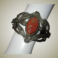 Filigree Bracelet with Jasper Center Gemstone