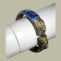 Chinese Cloisonne Bangle with Double Dragon Head