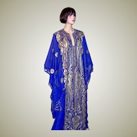 Middle Eastern Electric Blue Wedding Caftan