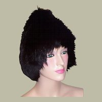A Stunning Black Fox Pixie Fur Hat