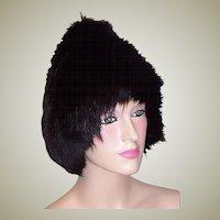 A Stunning Black Fox Pixie Fur Hat