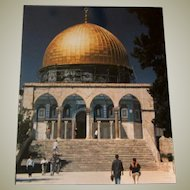 Original Colored Ethnographic Architectural Photograph of The Dome of the Rock by Bernard Levere