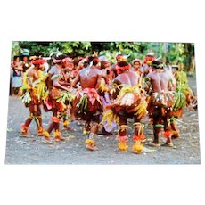 Original Colored Ethnographic Photograph of African Dance Ceremony by Bernard Levere
