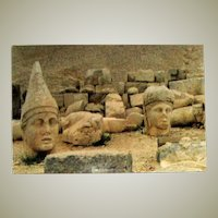 Rare and Original Colored Ethnographic Landscape Photograph of Mount Nemrut, Southeastern Turkey by Bernard Levere