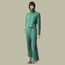 "Ski Suit by ""Bogner""-Viridian Green Ski Suit-Two Piece/Jumpsuit"