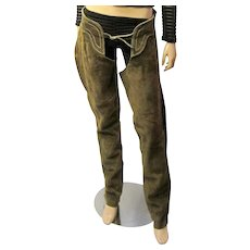 Men's/Women's-Cowboy/Cowgirl Brown Suede Western Chaps