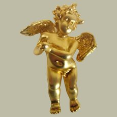 Cherub Brooch with Clasped Hands
