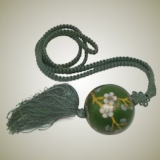 Early 20th Century Chinese Cloisonne Bead Necklace