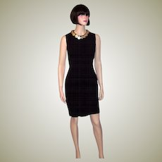 """""""Cheap and Chic-Moschino""""-Sleeveless Black Dress with Coins"""