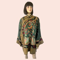 Forest Green Chinese Embroidered Jacket